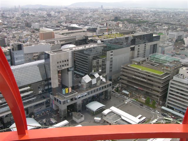 Kyoto Station seen from Kyoto tower