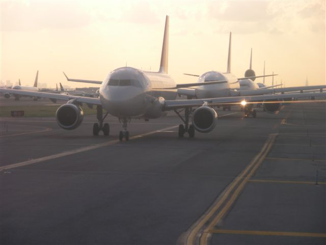 Traffic jam at JFK