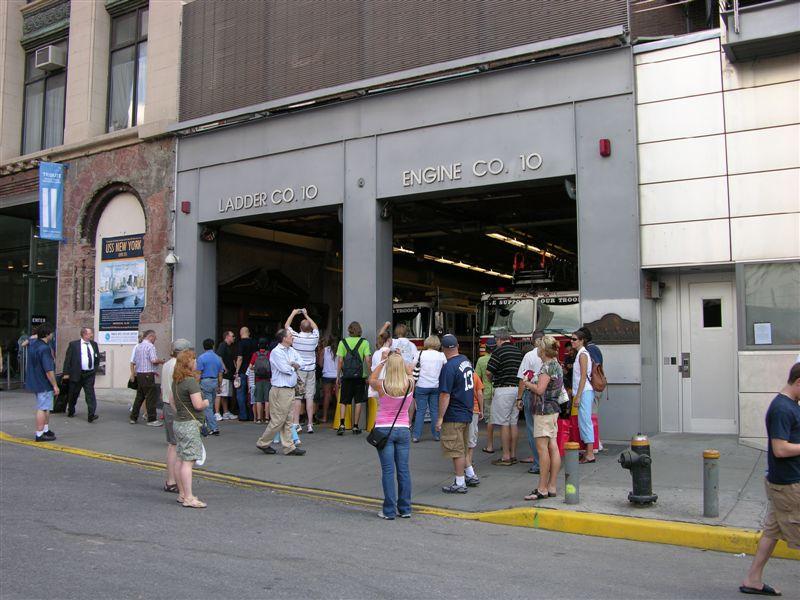 Fire Station across ground zero